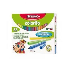 ETAFELT Fine Point Super washable Markers 36 Pcs Fibracolor