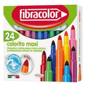 ETAFELT Fibracolor Colorito Maxi Broad Point Fiber Colouring Pens Pack of 24