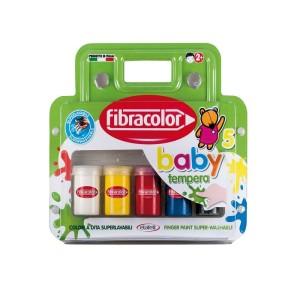 ETAFELT Fibracolor Baby Color Tempera Finger Paint Super Washable - Pack of 5