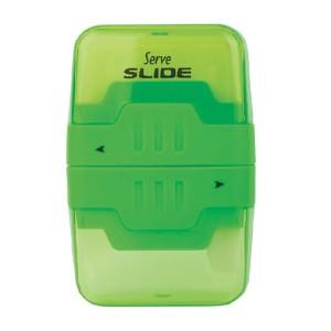 Serve Slide - Fluo Colours Eraser & Sharpener