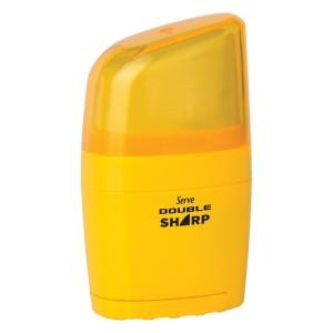 Serve Double Sharp - Fluo Colours Eraser & Sharpener