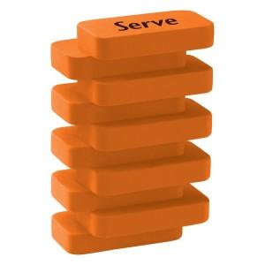 Serve Steps - Fluo Colours Eraser