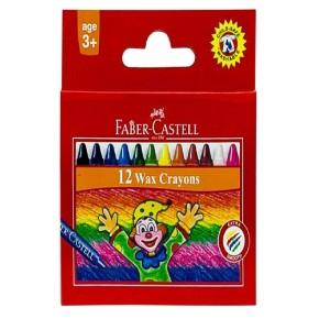 Faber-Castell 12-Piece Short Wax Crayons Multicolour