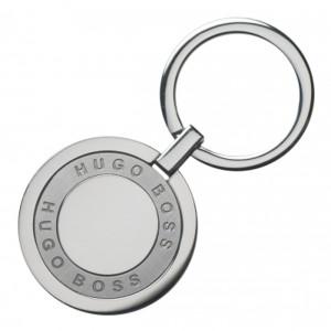 HUGO BOSS HAK847B Round key ring in Chrome-plated stainless steel