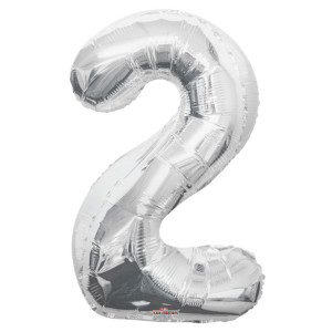 Balloon Numbers Silver