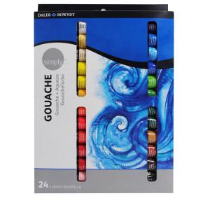 Daler Rowney Simply Artist Gouache Paint Set 24 x 12ml Tubes